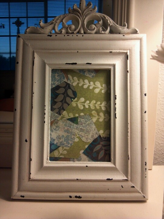 Take any empty picture frame you don't know what to do with, and