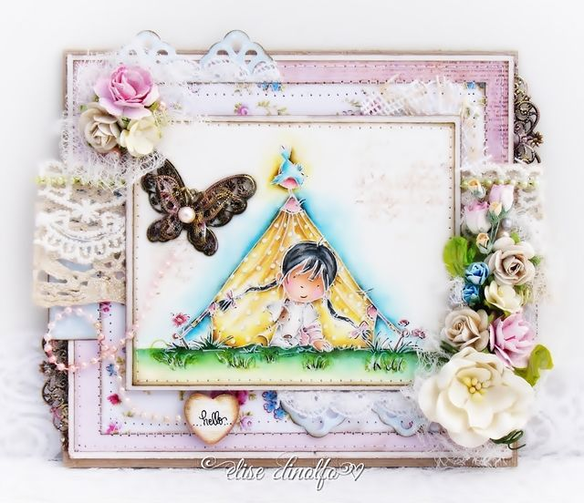 LOTV -  Camping with Set 46 Background Bits and papers from Snow Princess, Shabby Shack and Timeless Victorian by DT Elise