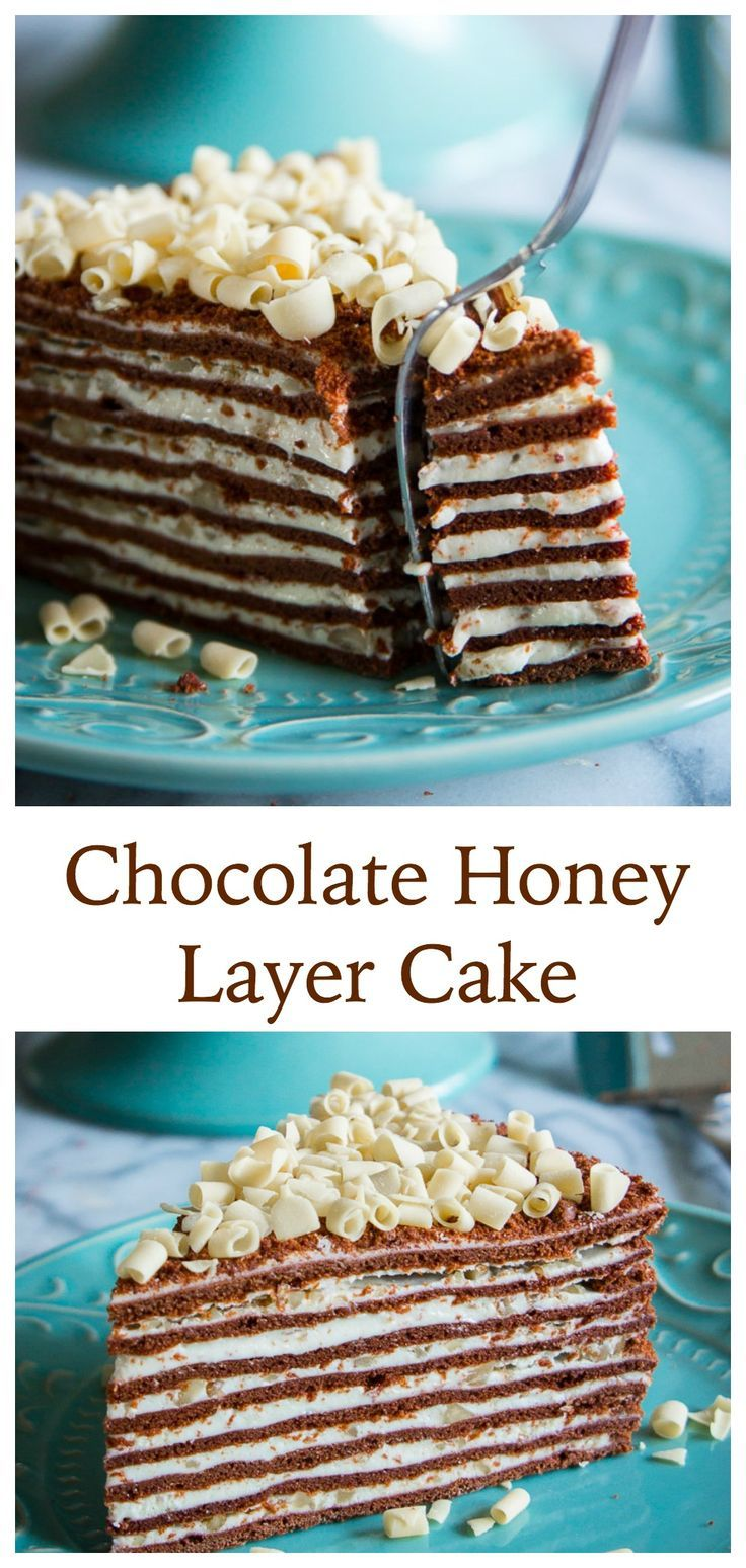 Thin chocolatey layers stacked between a sweetened condensed milk cream and finely chopped walnuts.