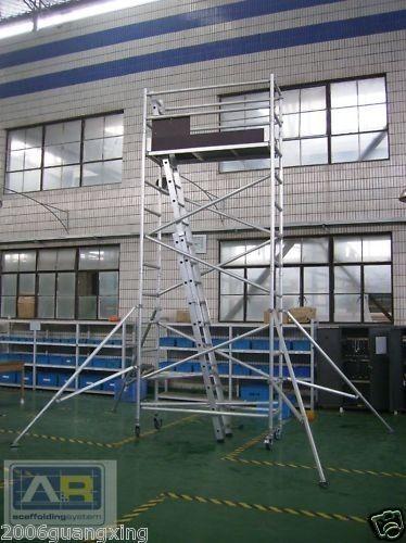 Wedge Aluminum Scaffold : Aluminium mobile scaffold tower f scaffolding platform