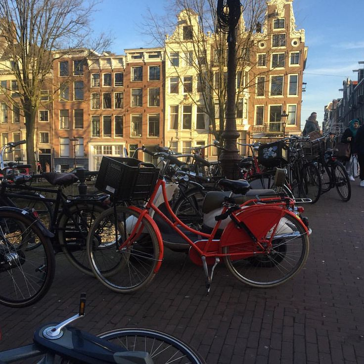 I enjoy every moment as I enjoy every picture. — Bicycles corner.  #channel #stroll #street #bike...