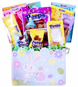 Easter Marshmallow Peep Candy Gift Basket