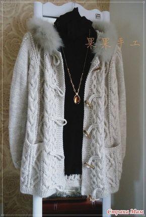 Арановое пальто, полупальто или куртка (кому что больше по душе) с карманами и капюшоном. Араны. Нашлась такая красота в сетях. Делюсь красотой.