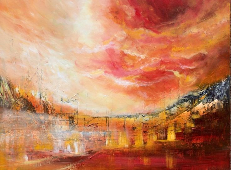 """Power in the air "" , Abstract Acrylic Painting - Pintura acrílica  by Mo Tuncay #painter #painting #artist #art"
