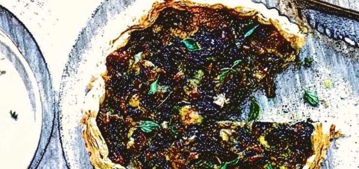 """Тарт со свекольными листьями и сыром, 20'  Я придерживаюсь выражения """"завтрак съешь сам ..."""" и так далее. Когда надоедают каши, омлеты и блины с вафлями, почему бы не испечь пирог. Хотя я не особо дружу с тестом, точнее его приготовлением, данный рецепт и его воплощение вошло в мой рацион и моей семьи, а надо сущую малость и 30 минут, время пока все умоются, накроют стол и будут готовы разделить с вами утро. Рецепт легкий с возможностью замены некоторых ингредиентов и """"окном"""" фантазий…"""