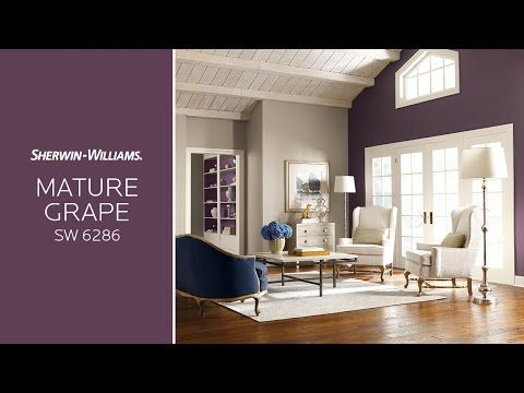 February 2017 Color Of The Month Video   Mature Grape. Colors For Living  RoomLiving Room WallsLiving ...