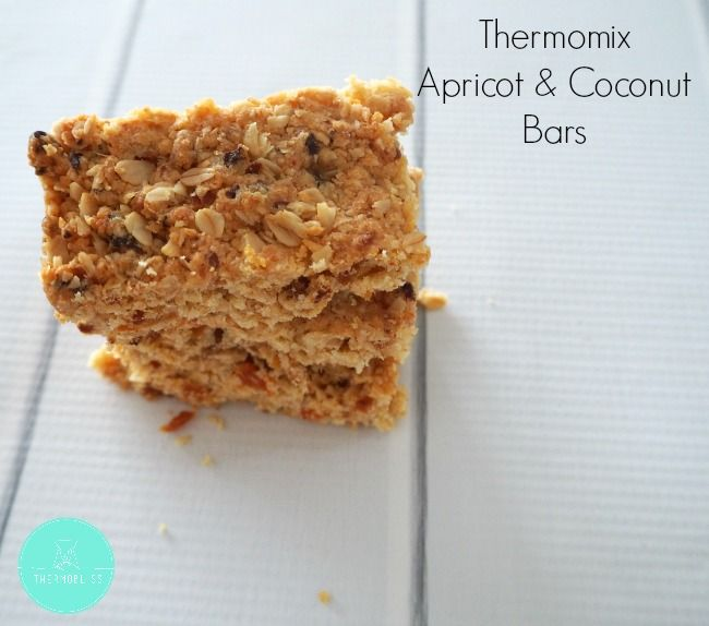 These Thermomix Apricot and Coconut Bars have no added sugar apart from a little rice malt syrup which helps to bind them together. Recipes really don't get much easier than this and you can have these ready to enjoy in around 45 minutes - perfect when you have hangry kids to feed!
