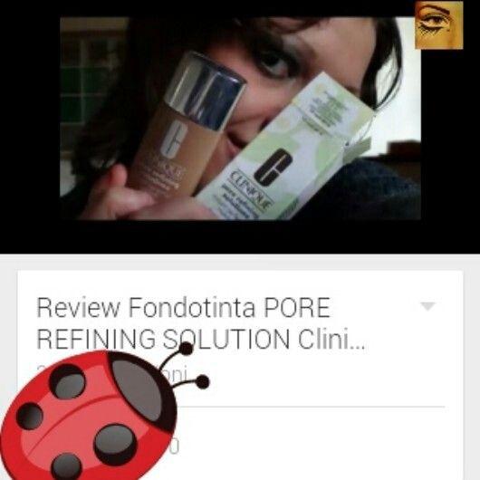 Review Fondotinta PORE REFINING SOLUTION Clinique: https://youtu.be/ODwdNbYd36o