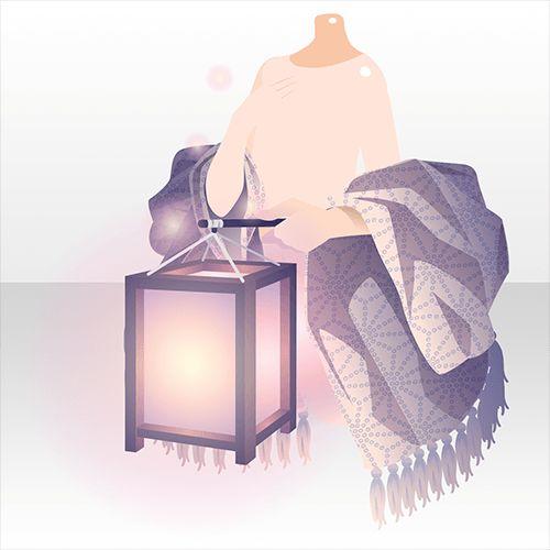 上半身/ジャケット・コート 蛍祭の手持ち灯籠B紫