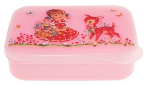 Alimrose Designs Lunch Box - Sweet Deer    Price: $18.00  Super sweet girl with deer lunchbox by Alimrose Designs - irresistible!!
