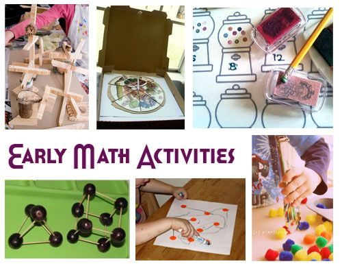 Early math activities for toddlers and preschoolers