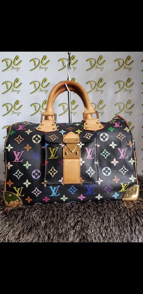 Louis Vuitton Monogram Multicolor Black Sdy 30 Handbag Satchel Designer Handbags In 2018