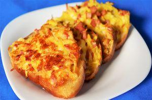 Фото к рецепту: Горячие бутерброды   Бюджетная закуска