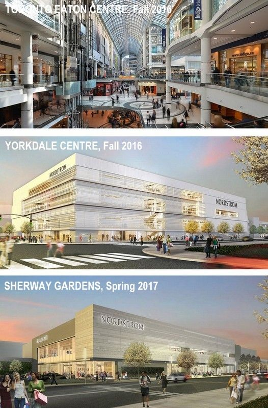 Nordstrom coming to Toronto Sherway Gardens