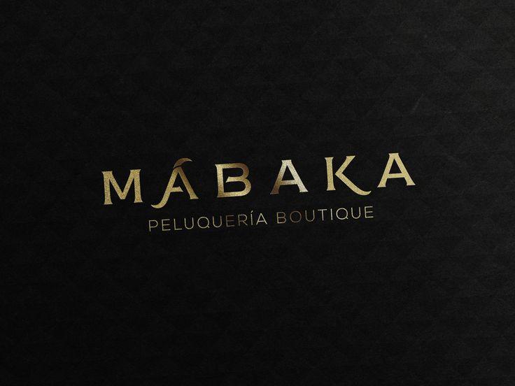 Diseño de logotipo para Mábaka. Un nuevo concepto de peluquería. #diseño #design #logo #peluqueriaboutique #brand #luxury #boutique #peluqueria #belleza #imagen #estetica #hairshop