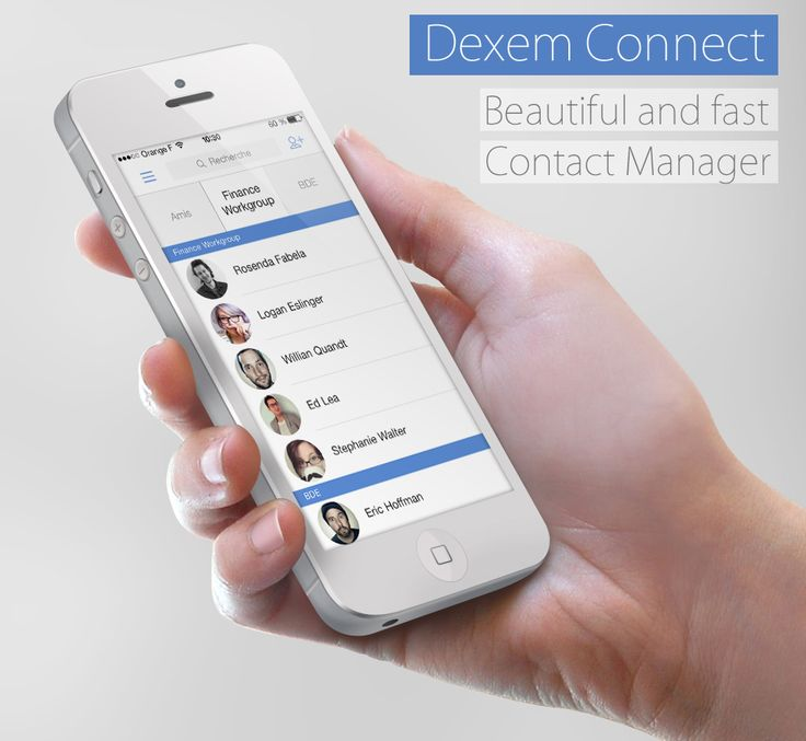 DexemConnect IOS7 design coming soon ! Manage your #contacts in #lists : list your associations, group work, friends and family ! Share your list ideas with us !