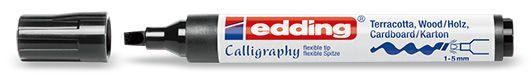 Marcador edding 1455 calligraphy marker - negro