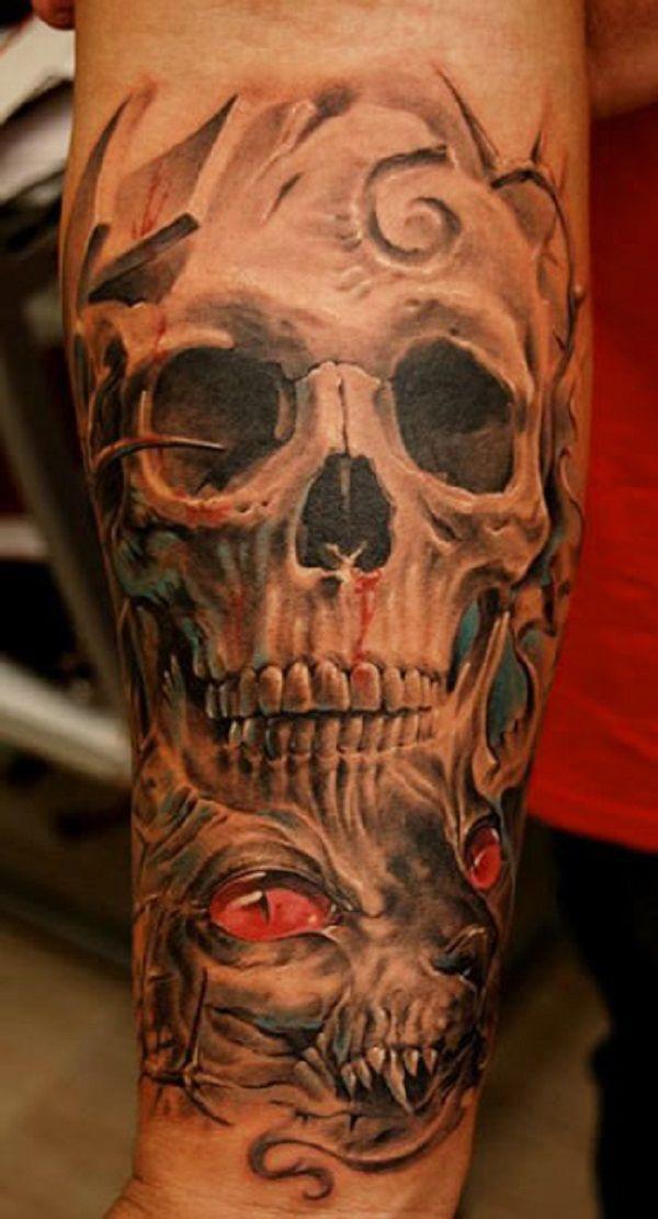1000 ideas about skull tattoo design on pinterest skull. Black Bedroom Furniture Sets. Home Design Ideas