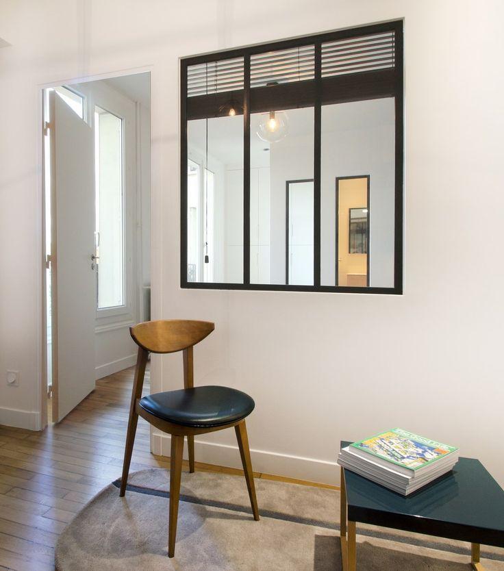 Une verri re entre un bureau et une chambre pour apporter for Bureau style loft