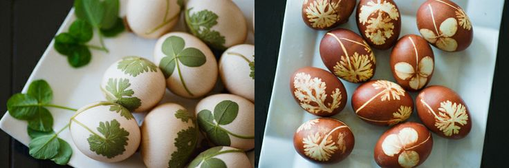 Love that look of these eggs - and BONUS - they're dyed with natural ingredients!