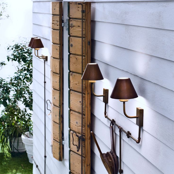 Good Aged Copper and Brass Exterior Wall Light