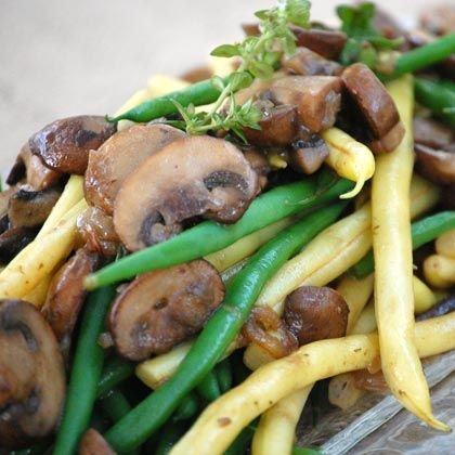 Green Beans with Mushrooms and Shallots #Easter #Mushrooms #KitchenPride