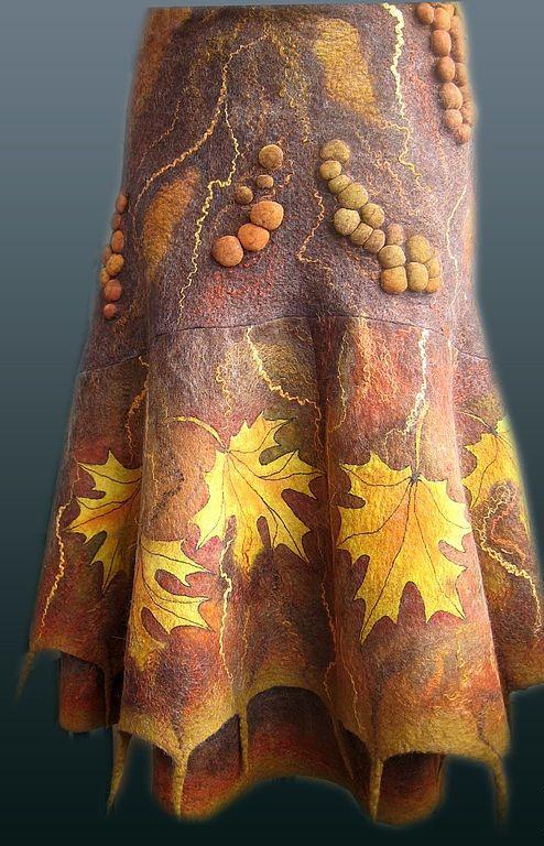 Одежда и обувь из войлока | Marta-club.ru- love the leaf motifs