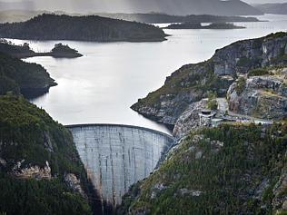 Gordon River Dam 2, Lake Pedder, Strathgordon, in the Gordon River National Park (Western Wilderness) Tasmania, Australia
