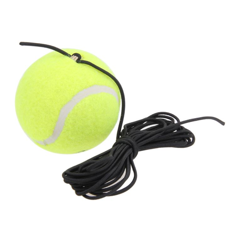Racquet Sports Portable Tennis Trainer Tennis Ball with String Replacement High Quality Rubber Woolen Training Tennis Ball New