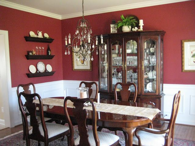 Formal dining room - Color scheme will be opposite, with red (estate vineyard) on the bottom and cream on top