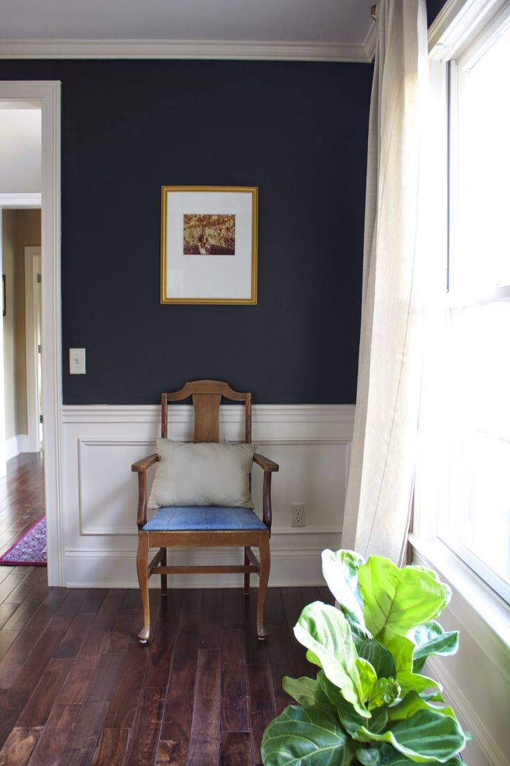 Dining Room With Deep Navy Blue Walls, 58 Water Street, Sherwin Williams  Inkwell Part 72