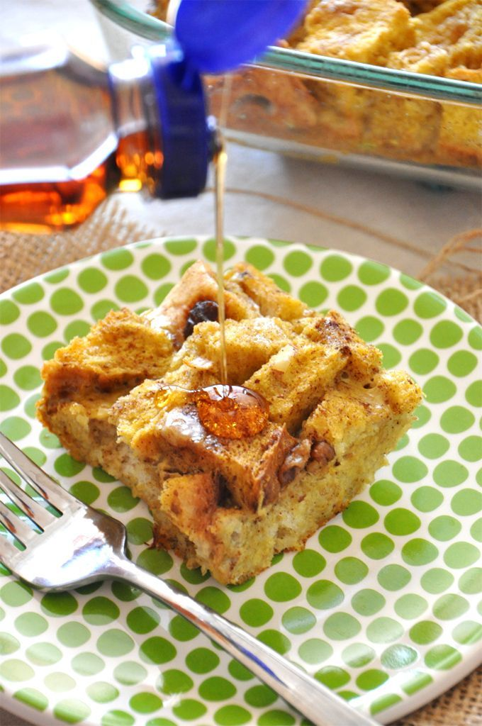 Pumpkin French Toast Bake   Receta   Tostada Francesa De Calabaza ...