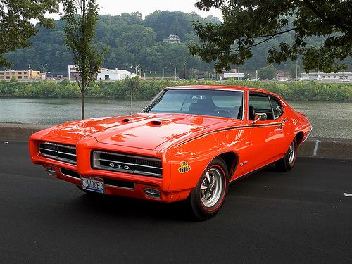 """1969 Pontiac GTO, original post doesn't mention it, but this is a rare model """"The Judge"""""""