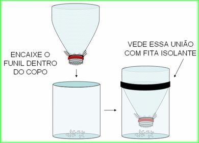 Armadilha para mosquito da dengue com garrafa PetVIDA SUSTENTÁVEL PINTEREST