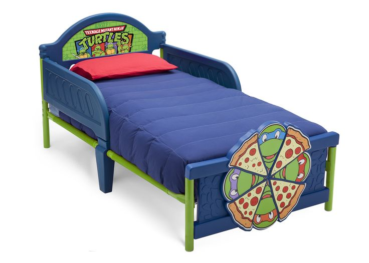 Make The Transition To A Big Kid Bed Totally Tubular With This Ninja Turtles 3D Toddler