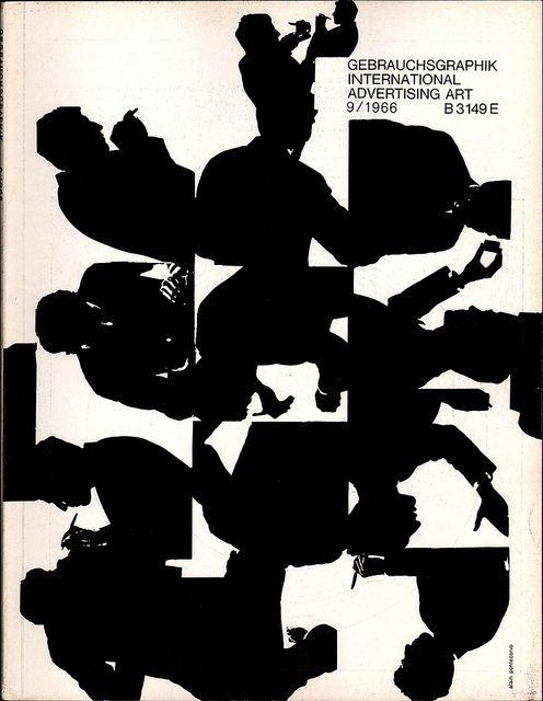 .: Byalain Pontecorvo, Gebrauchsgraphik 91966, 1966 Covers, Gebrauchsgraphik No9, Graphics Design, Gebrauchsgraphik Covers, Covers Design, Covers Byalain, Magazines Covers