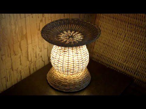 """Плетение из лозы-Светильник """"Ночник""""-Wickerwork - YouTube"""