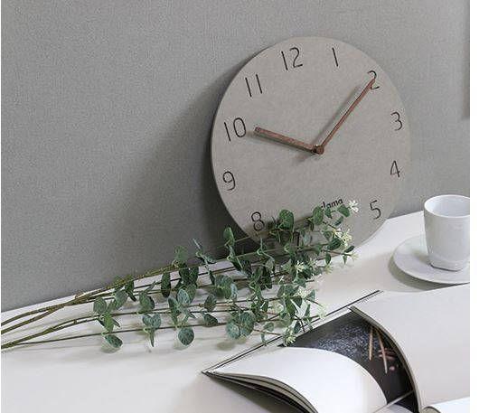minimal clockwooden minimal decor clockwood clockwall modern concrete woodenround clockliving room clock