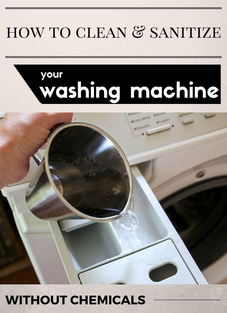 how to sanitize washing machine