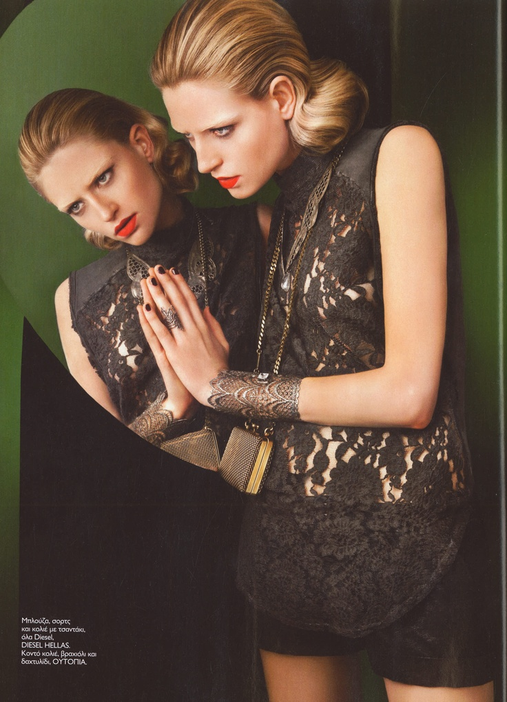 Elena Kougianou Oxydized Lace Cuff, Madame Figaro Editorial,Jan'13