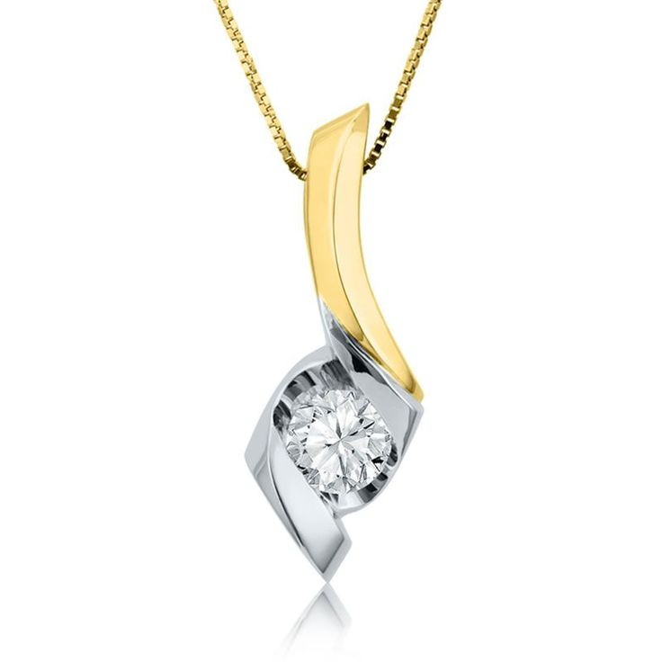 186 best sirena make it simple images on pinterest diamond sirena diamond 38ct solitaire pendant in 14k white yellow gold mozeypictures Choice Image
