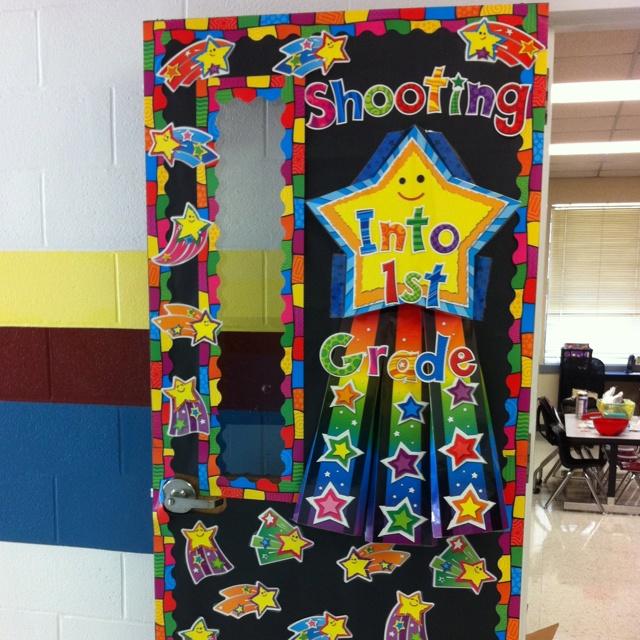 Classroom Decoration Ideas Forocoches : Shooting stars door classroom beginning of the year
