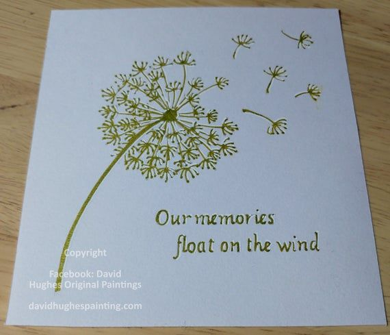 Hey I Found This Really Awesome Etsy Listing At Https Www Etsy Com Uk Listing 789911274 Memorial Dandelio Dandelion Drawing Sympathy Cards How To Make Paint