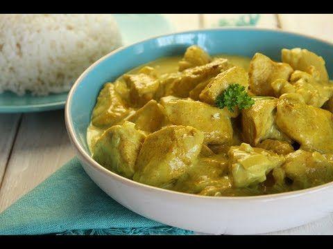 Curry de poulet à la crème - Blog cuisine marocaine / orientale Ma Fleur d'Oranger / Cuisine du monde /Recettes simples et cratives