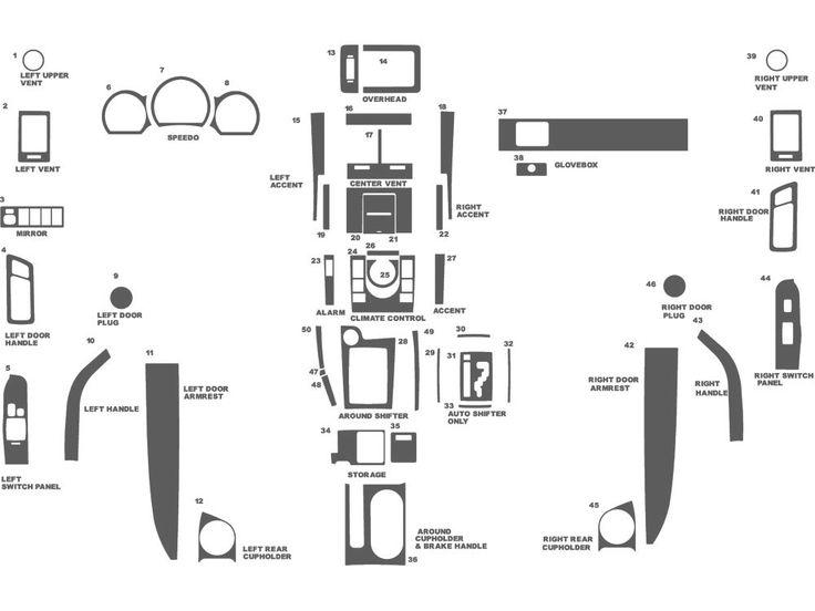 Scion tC 2005-2010 Dash Kit Schematic