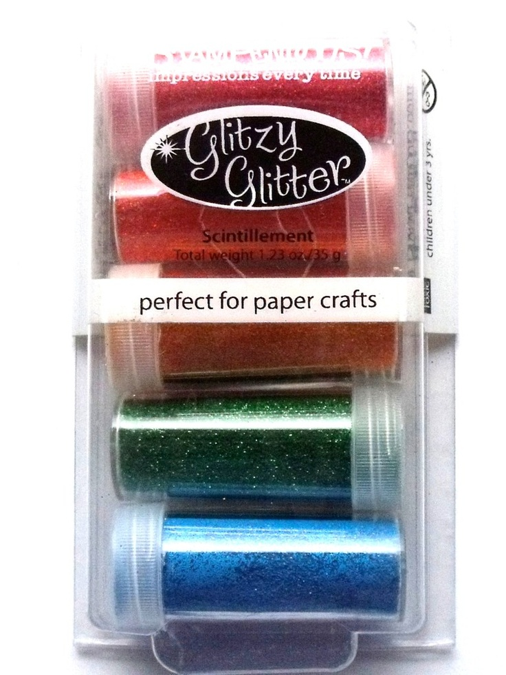 STAMPENDOUS GLITTER KIT - JELLY BEAN -  Add glitzy accents to cards, scrapbook pages and crafts. Apply over glue, tape or adhesive sheets. The kit contains 5 x 35g glitter pots, Cherry, Tigerlily, Sunflower, Green, Royal Blue.