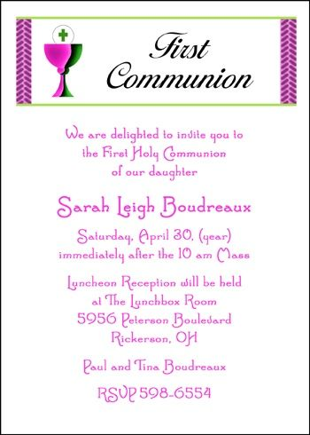 66 best Religious Invitations Announcements images on Pinterest - invitation templates holy communion