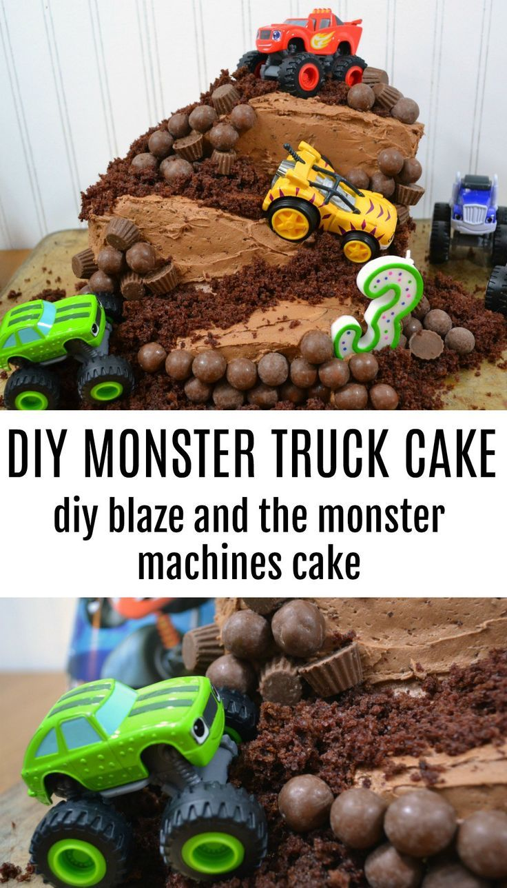 Have a birthday coming up for a truck lover? Your little will love this DIY Monster Truck Cake and I promise you'll appreciate how simple it is to make!