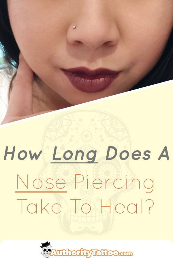 How Long Does A Nose Piercing Take To Heal Nose Piercing Healing
