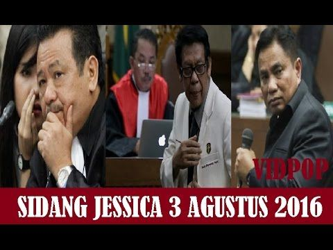 Sidang Jessica Kumala Wongso 3 Agustus 2016 Full Kesaksian Saksi Ahli.